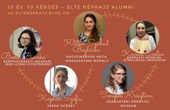 ELTE Néprajzi Alumni sorozat az elteneprajz.blog-on